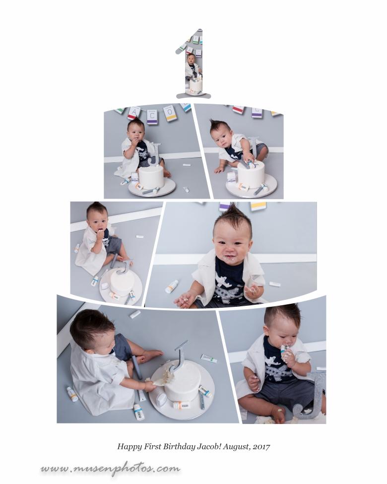 Jacob Cake Smash Collage